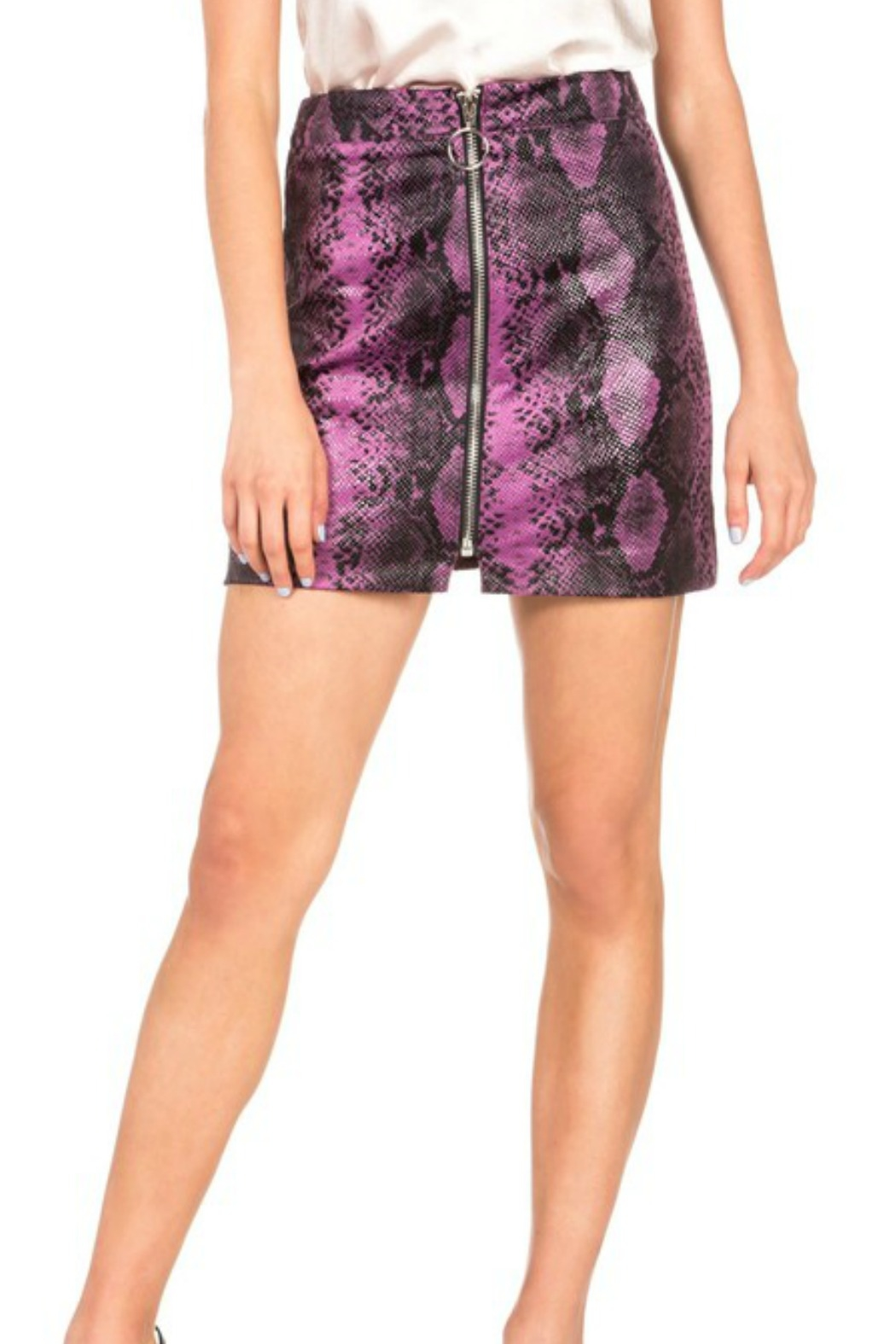 Dance and Marvel Faux Leather Skirt - Front Cropped Image