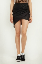 Olivaceous Faux Leather Skirt - Product Mini Image