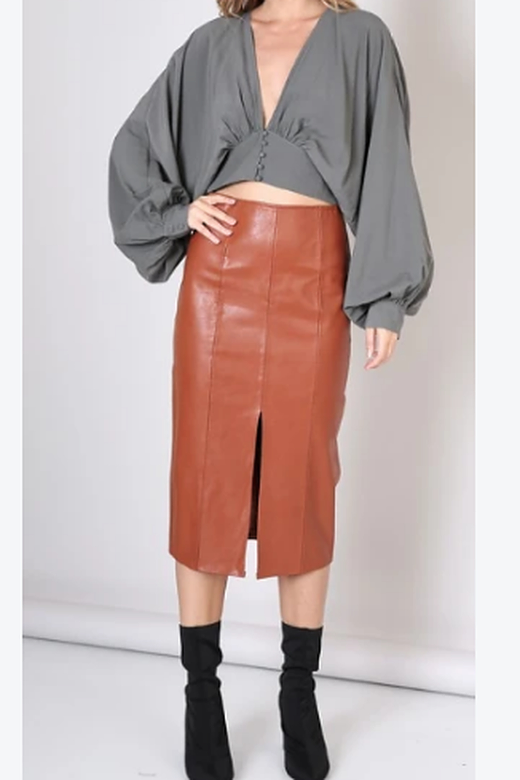 Do & Be Faux leather skirt - Main Image