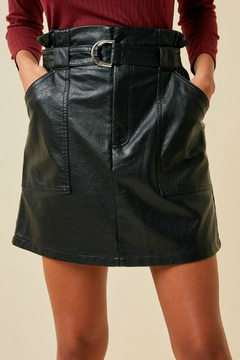 Hayden Faux Leather Skirt - Product List Image