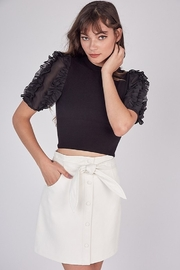 Idem Ditto  Faux Leather Skirt - Front cropped