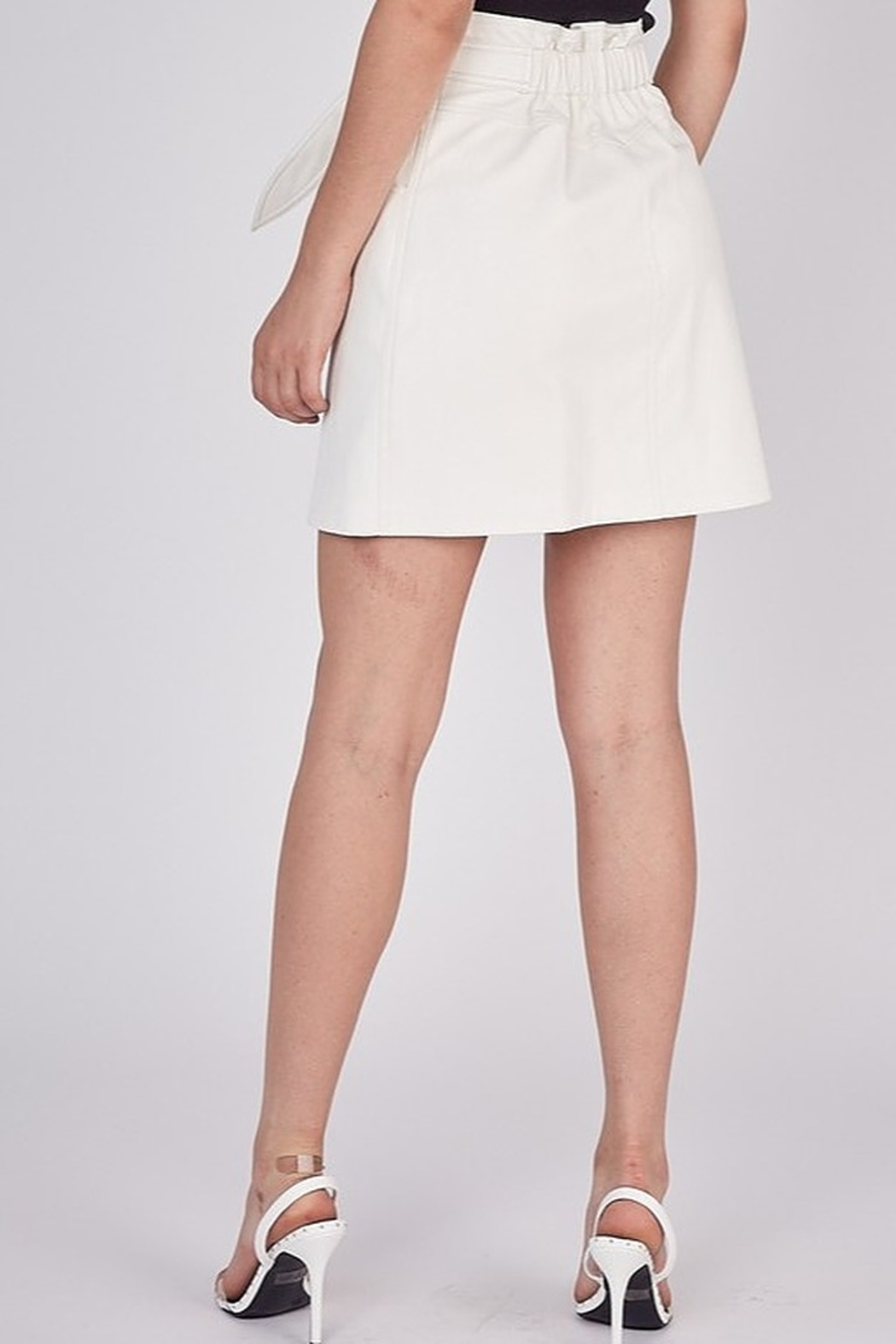 Idem Ditto  Faux Leather Skirt - Side Cropped Image
