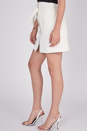 Idem Ditto  Faux Leather Skirt - Back cropped