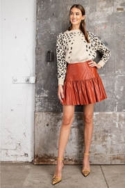 Easel  Faux Leather Skirt - Front cropped