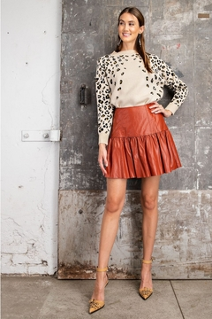 Easel  Faux Leather Skirt - Product List Image