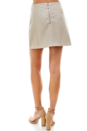 TCEC Faux Leather Skirt - Front full body