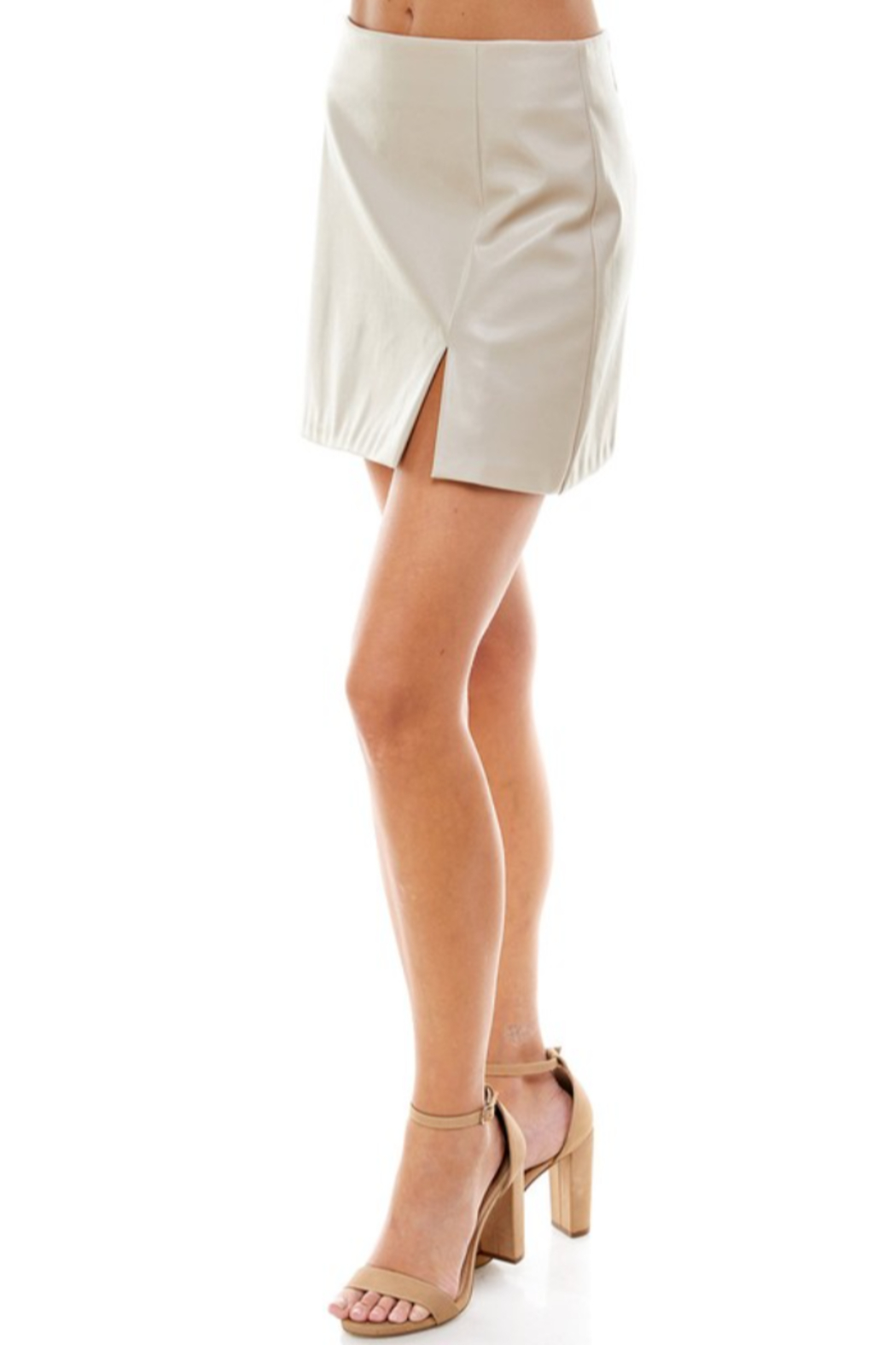 TCEC Faux Leather Skirt - Side Cropped Image