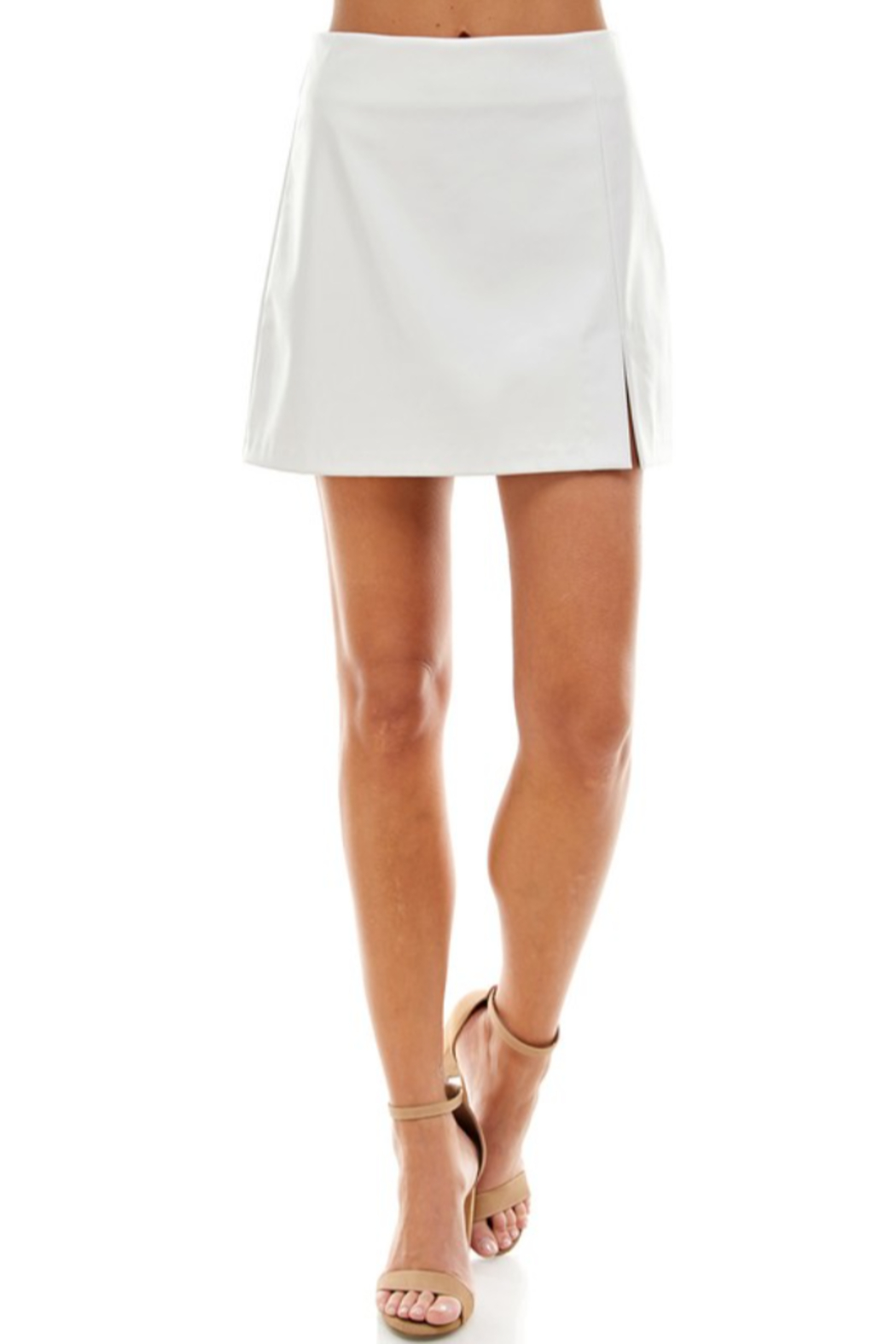 TCEC Faux Leather Skirt - Front Cropped Image