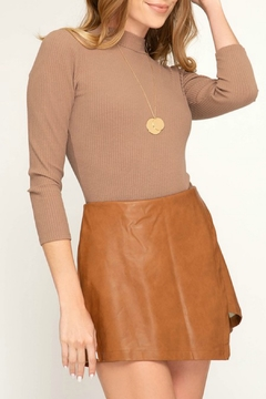 She + Sky Faux Leather Skort - Product List Image