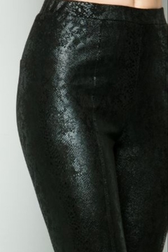 See and Be Seen Faux Leather Snake Print Leggings - Alternate List Image