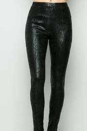 See and Be Seen Faux Leather Snake Print Leggings - Product Mini Image