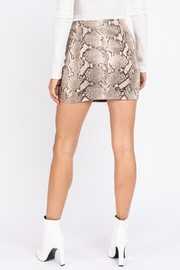 Le Lis Faux Leather Snake Print Skirt - Front full body