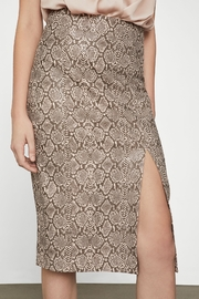 BCBG MAXAZRIA Faux Leather Snake Skirt - Product Mini Image