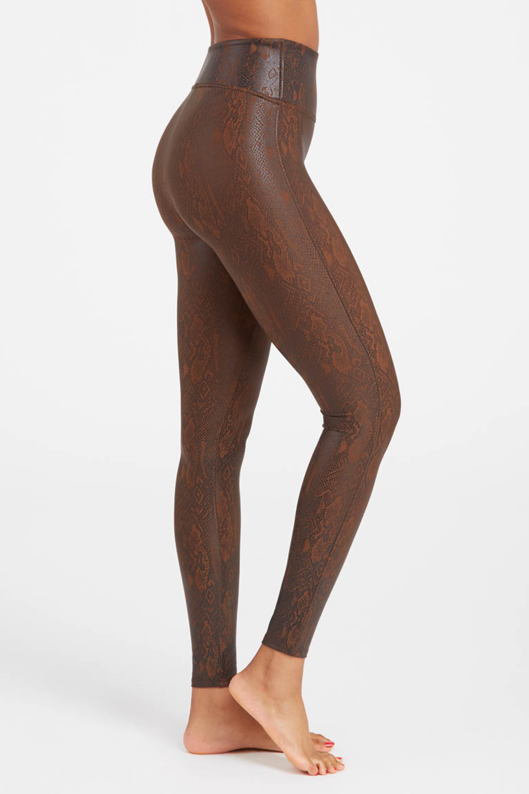 Spanx Faux Leather Snakeskin Legging - Front Cropped Image