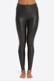Spanx Faux-Leather Stripe Leggings - Front cropped