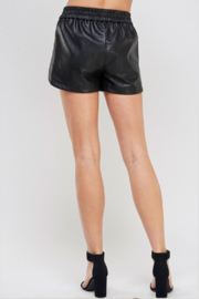 R+D Faux Leather Track Shorts - Side cropped