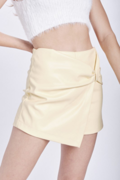 Emory Park Faux Leather Twist Front Skirt - Product List Image