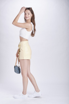 Emory Park Faux Leather Twist Front Skirt - Alternate List Image