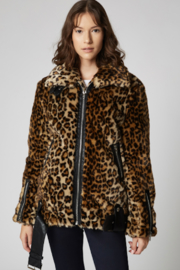 Blank NYC Faux Leopard Biker Jacket - Product Mini Image