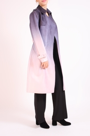 Talk of the Walk Faux Ombre Trenchcoat - Back cropped