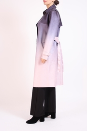 Talk of the Walk Faux Ombre Trenchcoat - Front full body