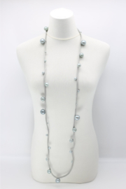 Jianhui London  Faux Pearls on Textile Cord - Front full body