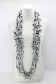 Jianhui London  Faux Pearls on Textile Cord - Front cropped