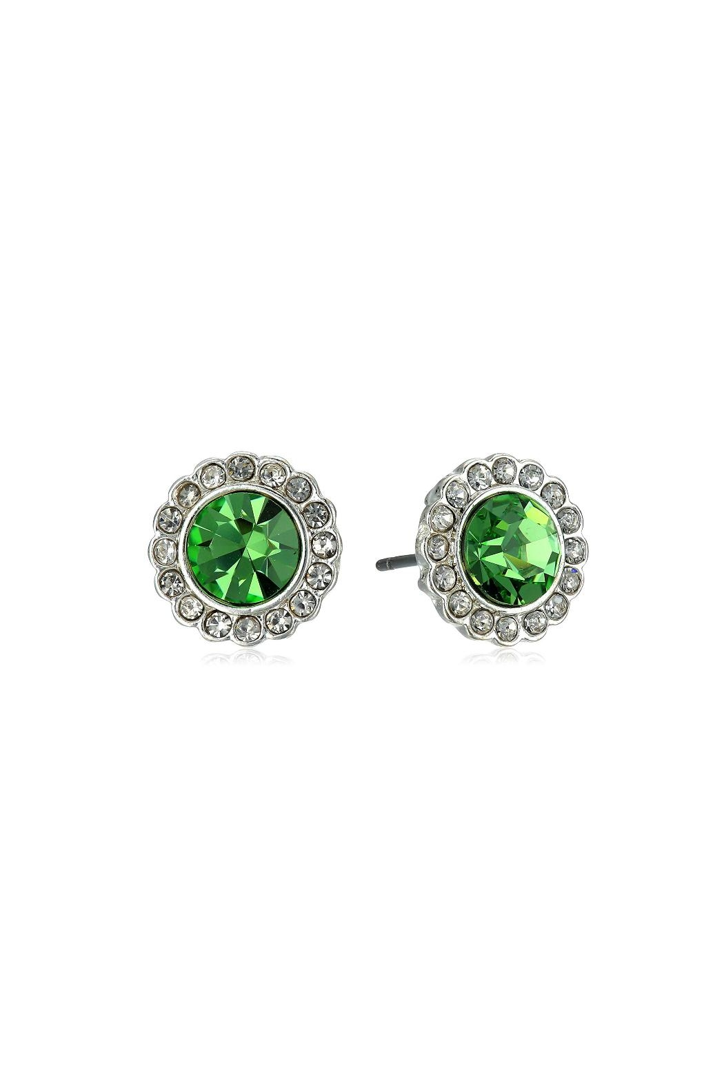 Vera Bradley Faux Peridot Studs - Front Cropped Image
