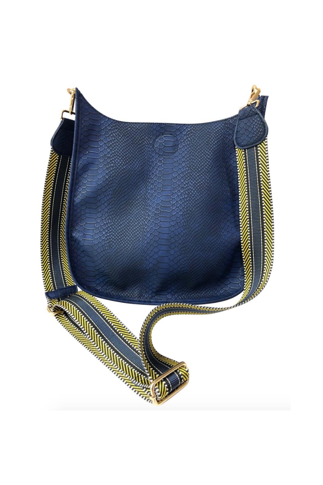 Ah!dorned FAUX SNAKE MESSENGER BAG W/2