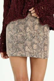 Wild Honey Faux Snake Skirt - Product Mini Image