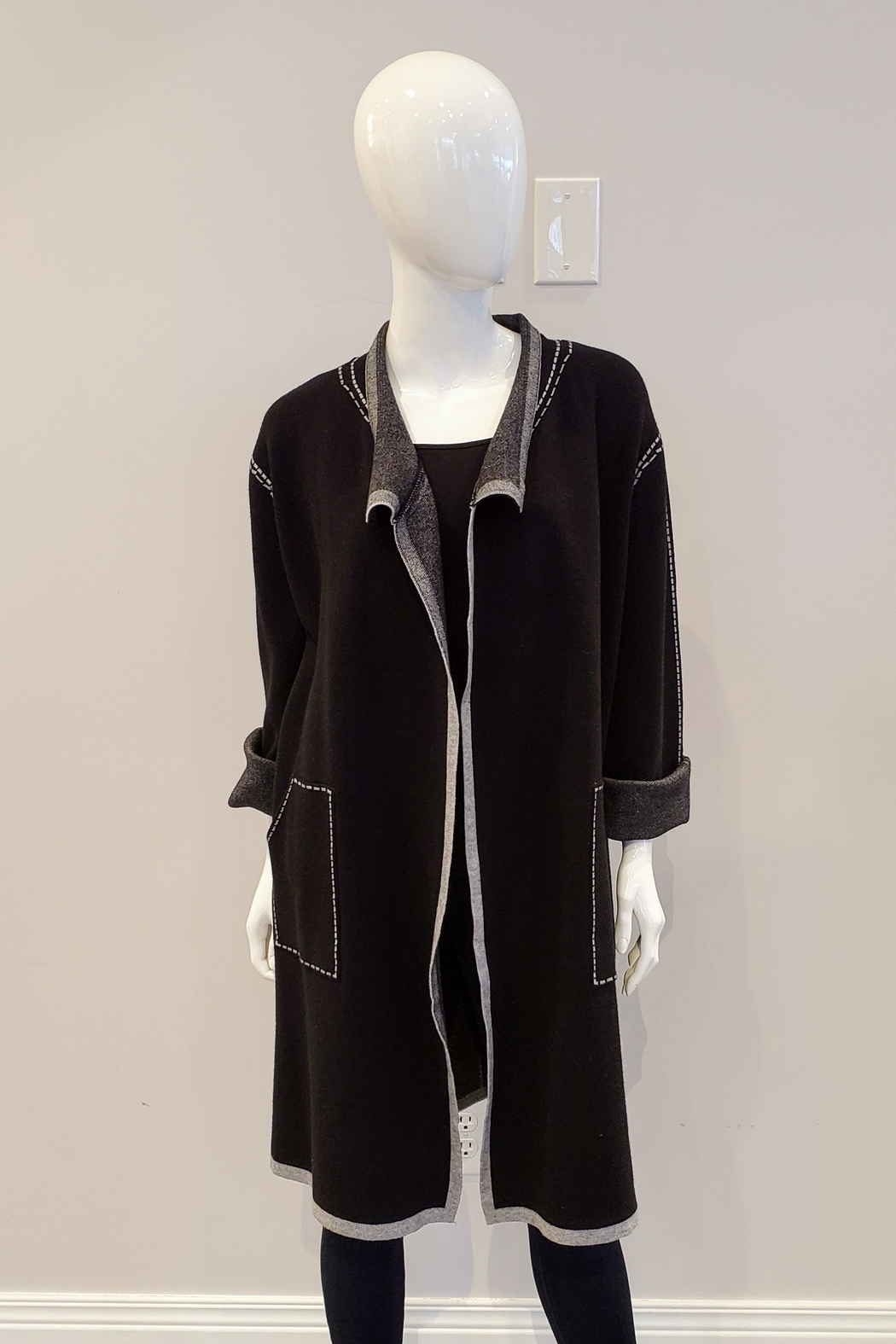 Patrizia Luca Faux Stitched Duster Sweater - Main Image