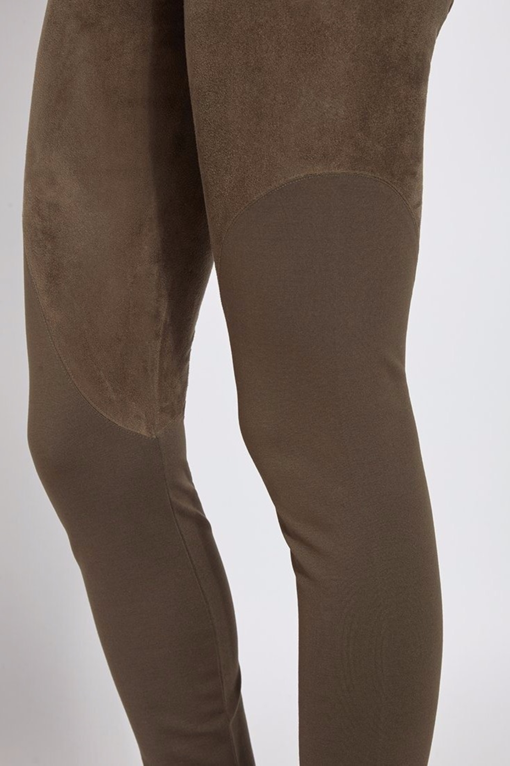 Lyssé Faux Suede Angle Seam Leggings - Back Cropped Image