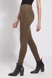 Lyssé Faux Suede Angle Seam Leggings - Side cropped