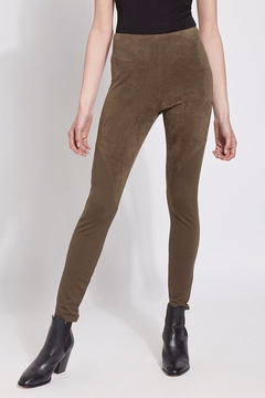 Lyssé Faux Suede Angle Seam Leggings - Product List Image