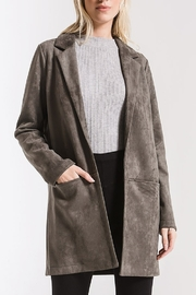 rag poets Faux-Suede Bond Coat - Product Mini Image