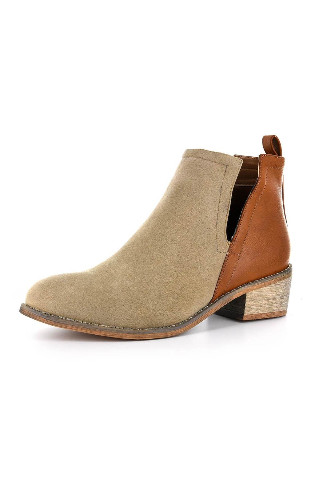 Corkys Faux Suede Bootie - Front Cropped Image