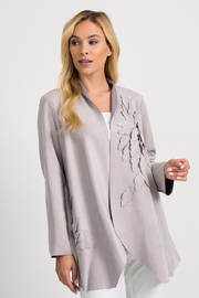 Joseph Ribkoff  Faux Suede Cardi Jacket, Grey - Product Mini Image