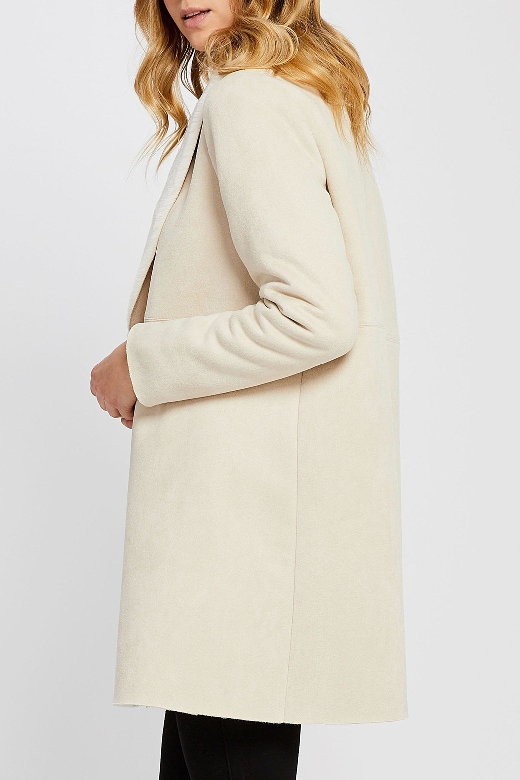 Gentle Fawn Faux Suede Coat - Front Full Image