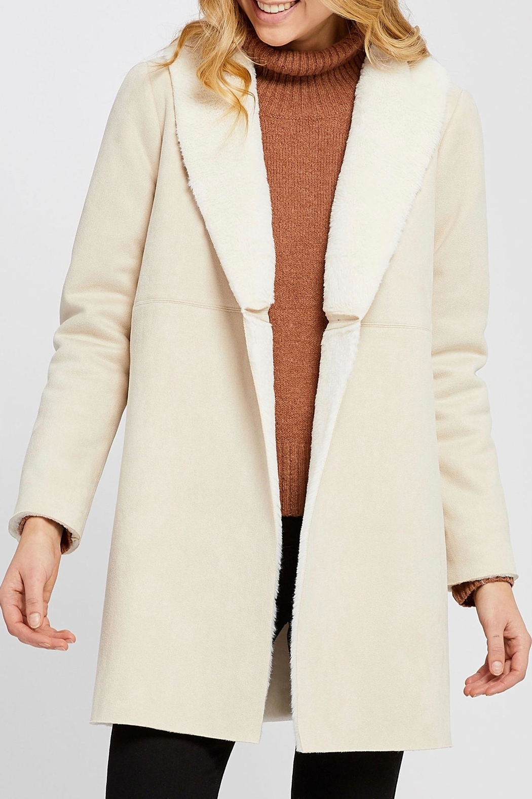 Gentle Fawn Faux Suede Coat - Main Image