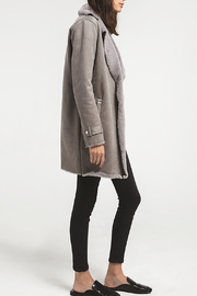 rag poets Faux Suede Coat - Product Mini Image