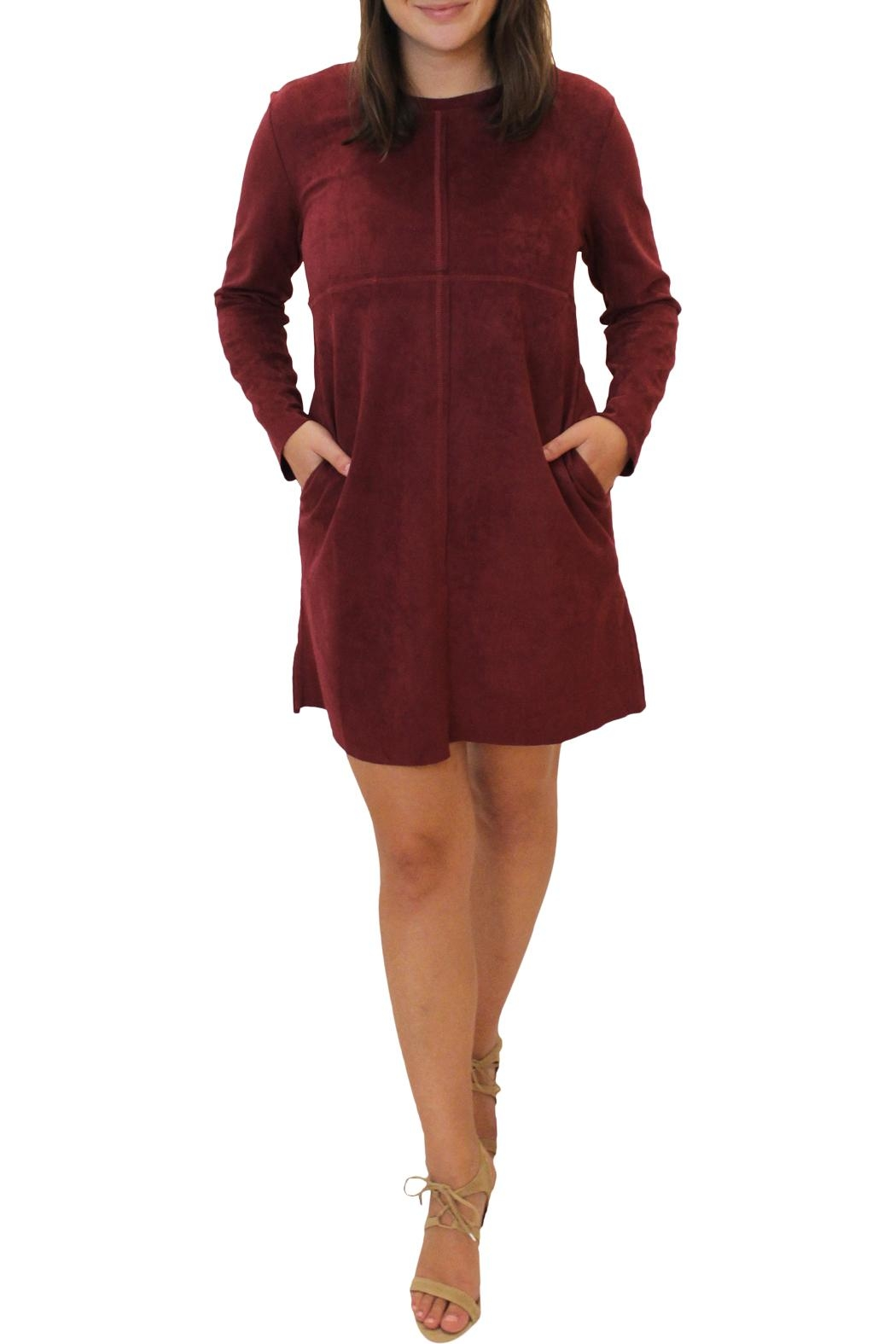 Joh Apparel Faux Suede Dress - Front Cropped Image