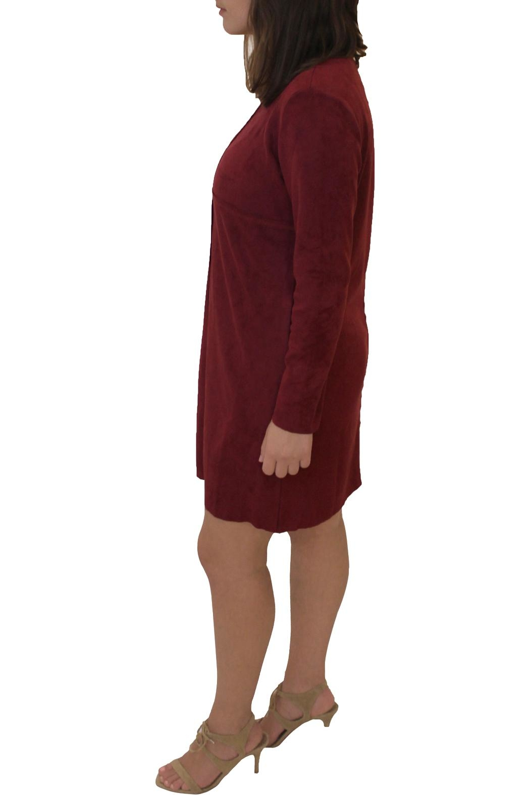 Joh Apparel Faux Suede Dress - Front Full Image