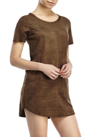 Olivaceous Faux Suede Dress - Product Mini Image