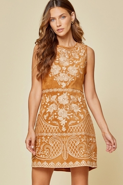 Savanna Jane Faux Suede Dress with Embroidery - Product List Image