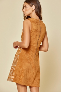 Savanna Jane Faux Suede Dress with Embroidery - Alternate List Image