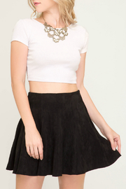 She + Sky Faux Suede Flare Skirt w Pockets - Product Mini Image
