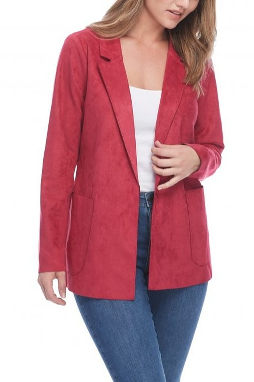 FDJ French Dressing FAUX SUEDE JACKET - Main Image