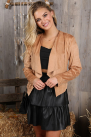 Ninexis Faux Suede Jacket - Front cropped