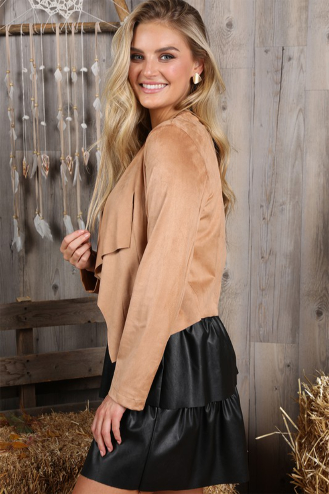 Ninexis Faux Suede Jacket - Front Full Image