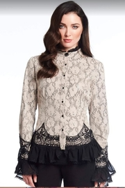 Alberto Makali Faux Suede Lace Blouse - Product Mini Image